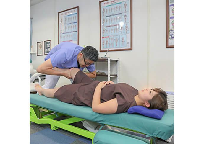いな中央接骨院の股関節へのアプローチ